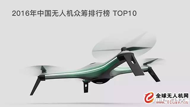 无人机--盘点:2016年中国无人机众筹排行榜 TOP10