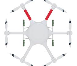 智慧蜂多用途六旋翼无人机840×6 载重3KG