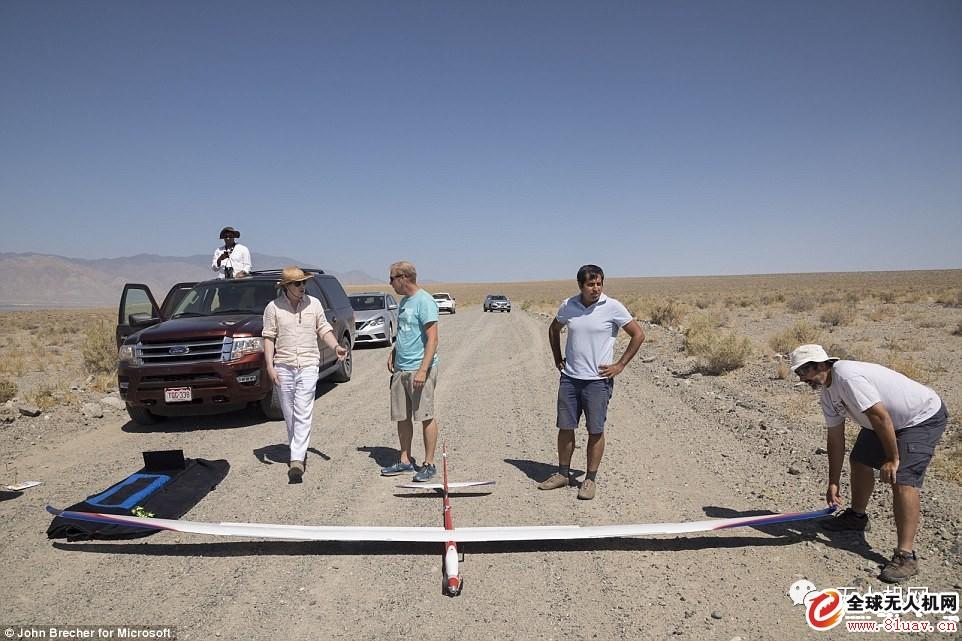微软测验无动力人工智能仿鸟飞翔无人机sailplane