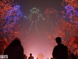 无人机编队表演唯美诠释『汉风秋月』盛景