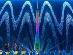 广州国际灯光节 无人机编队带你穿梭改革开放40年