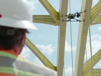 Intel无人机检查古老大桥 千张照片合成预测数据
