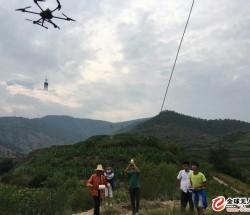 四川贵州飞艇无人机飞机拉线架线放