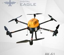 数字鹰AK-61植保无人机载药量10公斤模块化设计可拆卸机臂